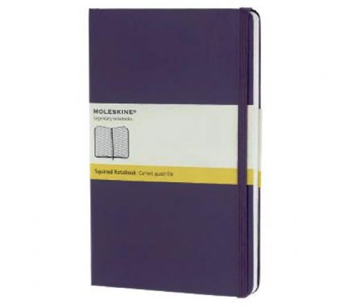 Purple Large Squared Notebook